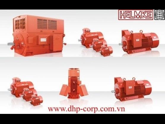 Động cơ điện Helmke 3 pha 6 cực 1000 rpm hiệu suất cao IE3