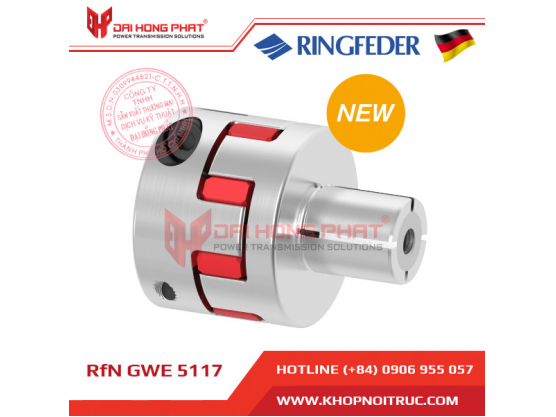 Khớp nối động cơ Servo Ringfeder GWE 5117